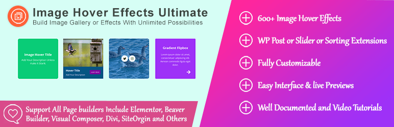 Image Hover Effects Ultimate